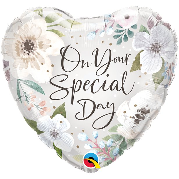 Special Day Floral Heart Shaped Balloon - 18