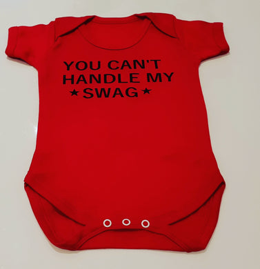 You can't handle my swag baby grow, Little Sister top, Personalised baby grows, personalised babyvest, family matching outfits, sibling outfits, new born baby clothes, newborn gifts, melinas gift shop, tooting baby shop, tooting gift shop, london baby shop, london baby shop, new born gifts, south london gift shops, wandsworth gift shops