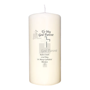 Godparent Cross Candle