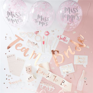 Team Bride Party In A Box, Party supplier, party decor, corporate party supplier, London Party supplier, Christening Party, Wandsworth Party Supplier, ginger ray, party delights, USA Party Supplier, EU Party Supplier, baby shower supplier, hen party décor, hen party balloons, team bride decorations