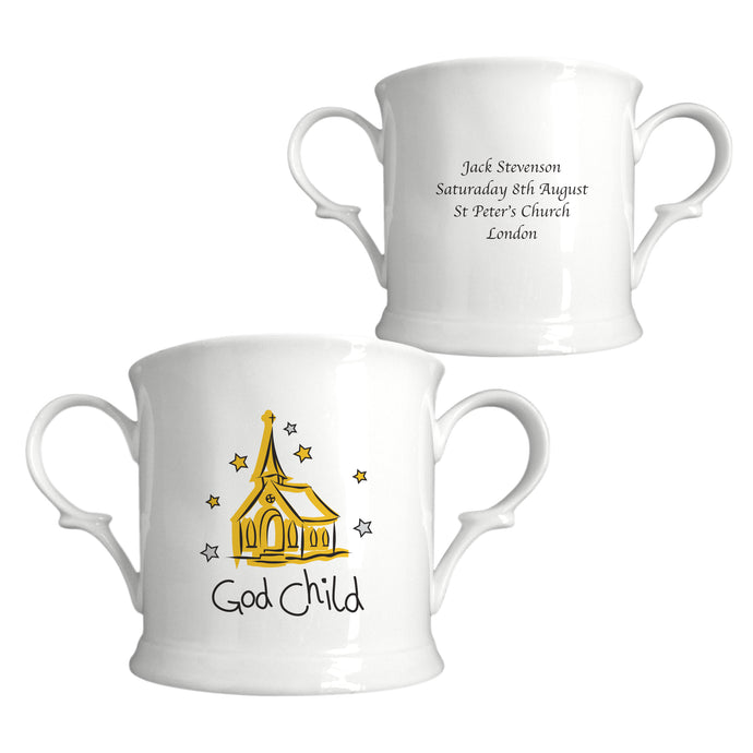 Church Godchild Bone China Loving Cup