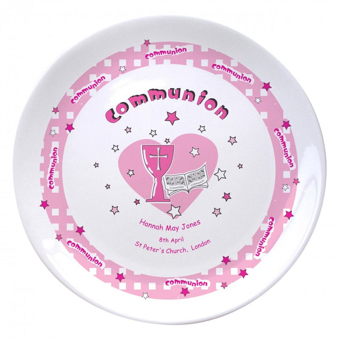 Pink Heart Holy Communion 8
