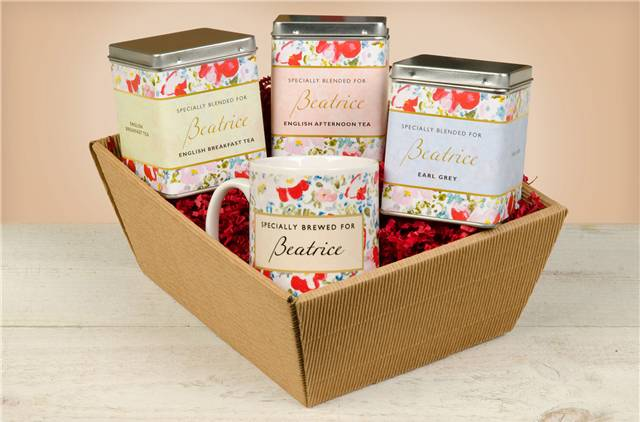 Floral Design Tea Hamper