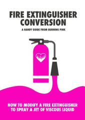 How to convert a fire extinguisher to spray your own liquid