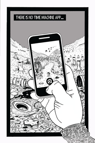 There Is No Time Machine App from Heavy Manners Comic Bulletin One