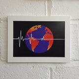 Flatline Earth Society A4 Art Print