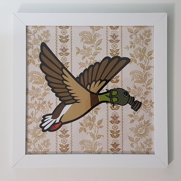 "Flying Duck 12"" Art Print"
