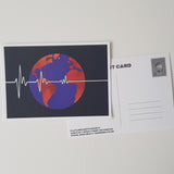 Flatline Earth Society Postcard