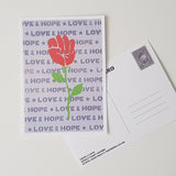 Hope & Love Postcard