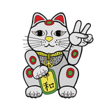 Peacey Cat Shaped Sticker