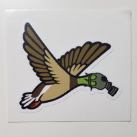 Flying Duck Shaped Sticker