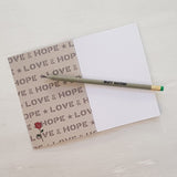 "Bundle of 3 ""Love & Hope"" A6 Recycled Notebook Pencil Sets"
