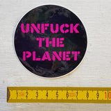 UNFCK THE PLANET sticker set (x3)