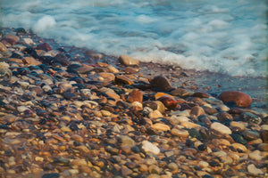 Rocks along the Lake Michigan shoreline