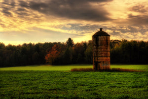 The Lonely Silo in a Field in Wisconsin
