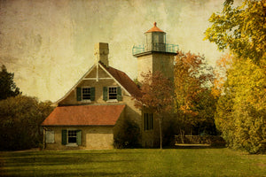 Eagle Bluff Lighthouse in Door County, Wisconsin.