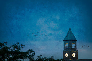 Neenah Clock Tower at Dusk