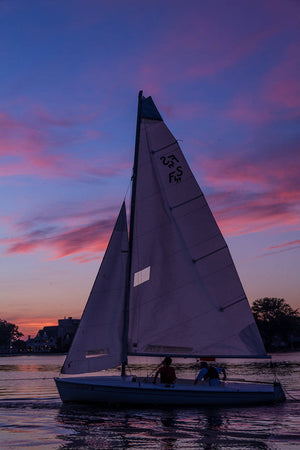 Sailing at Sunset Neenah Wisconsin