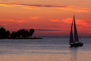 Door County Sunset Sailboat
