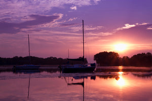 Sailboats at Sunrise Neenah Wisconsin