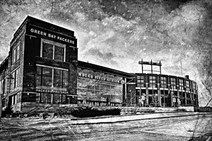 The Frozen Tundra Lambeau Field Packers Black and White