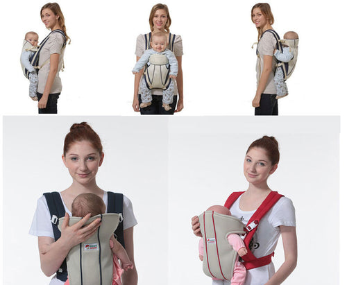Ergonomic baby carrier with four type adjustment