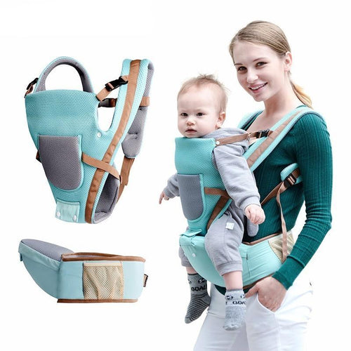 All-Season Breathable Multifunctional Baby Carrier with Hip Seat