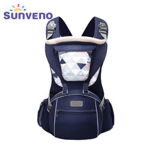 Load image into Gallery viewer, Firm Pattern Type Baby Carrier with Multiple Pouches – Hooded Design