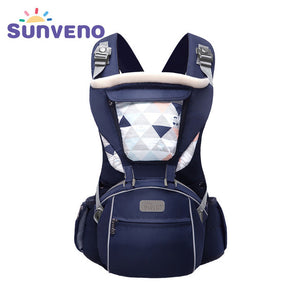 Firm Pattern Type Baby Carrier with Multiple Pouches – Hooded Design