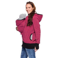 Load image into Gallery viewer, Maternity Hoodie Jacket & Baby Sling