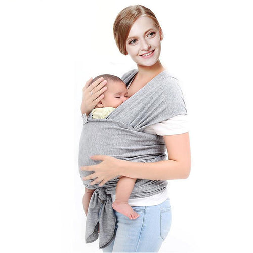 Solid Pattern Type Baby Carrier – Breathable Sling Wrap Design