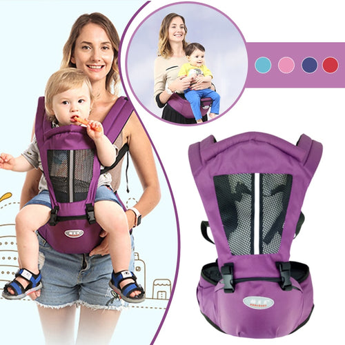 Adjustable Baby/Toddler Carrier with Hip Seat