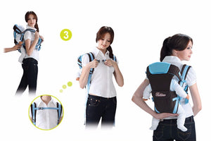 Geometric Pattern Type Baby Carrier – 'Any Carry Position' Design