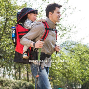 Waterproof Outdoor Baby Carrier with Pockets and Seat
