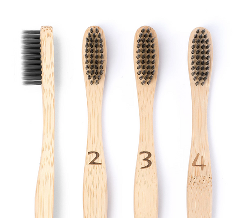 Bamboo Toothbrush 4-Pack