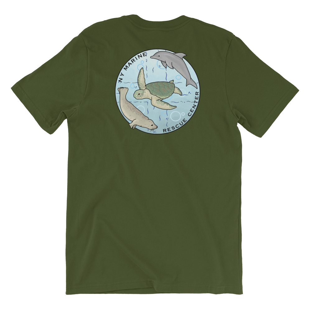 NY Marine Rescue Center Unisex T-Shirt (Front and Back Print)
