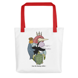 Ocean Heart Color Tote Bag