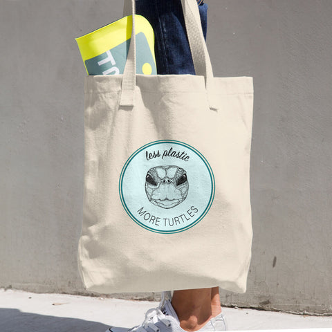 Less Plastic Cotton Tote Bag