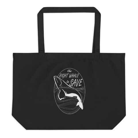 Right Whale Large Organic Tote Bag
