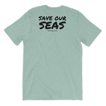 Load image into Gallery viewer, Ocean Heart Color Unisex T-Shirt (Front and Back)