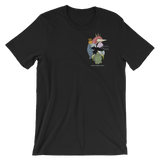Ocean Heart Color Unisex T-Shirt (Front and Back)