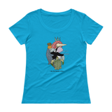 Ocean Heart Color Scoopneck T-Shirt