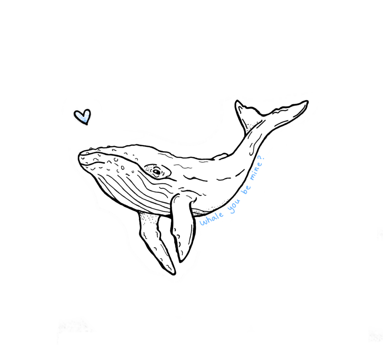 """Whale You Be Mine?"" Print"