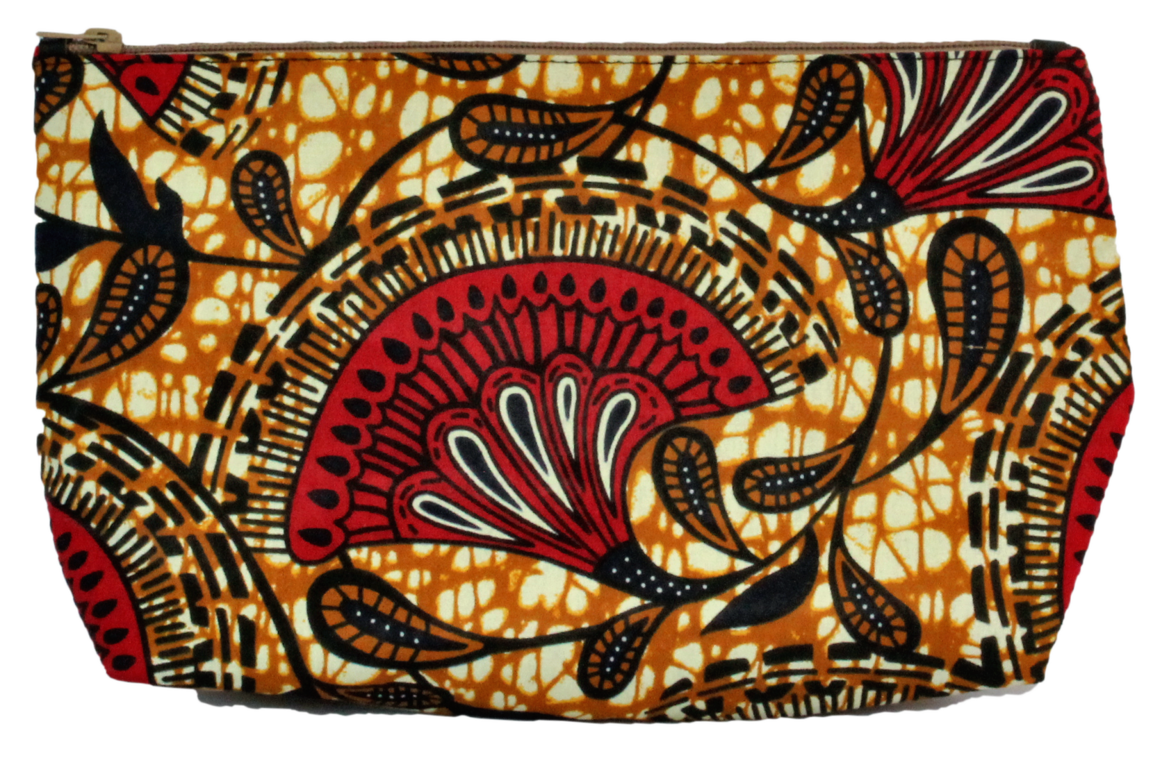 African bag cosmetics bag recycled