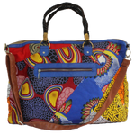 Handmade weekend bag, upcycled, African print, Kitenge fashion, Ankara fashion, weekender, holdall