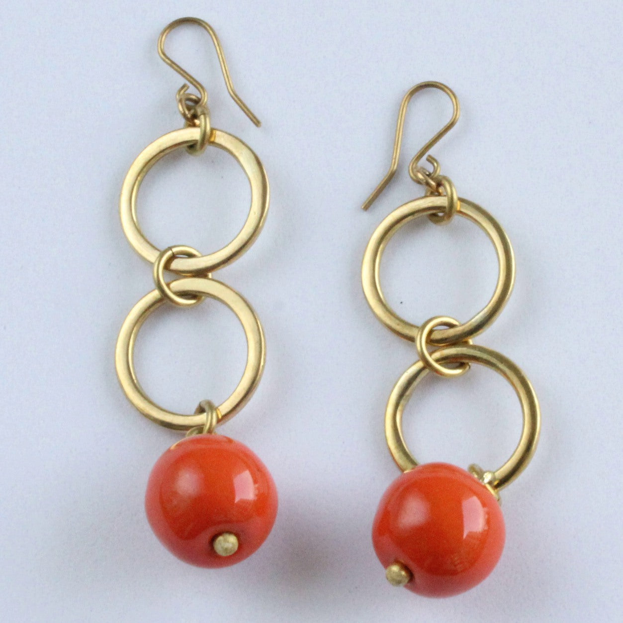 Brass Earrings Majira