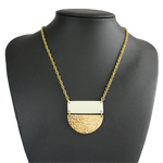 Brass necklace recycled bone hand hammered