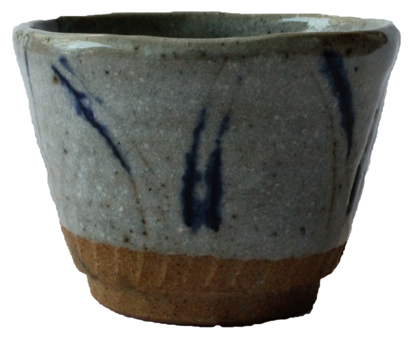 Japanese pottery cup side