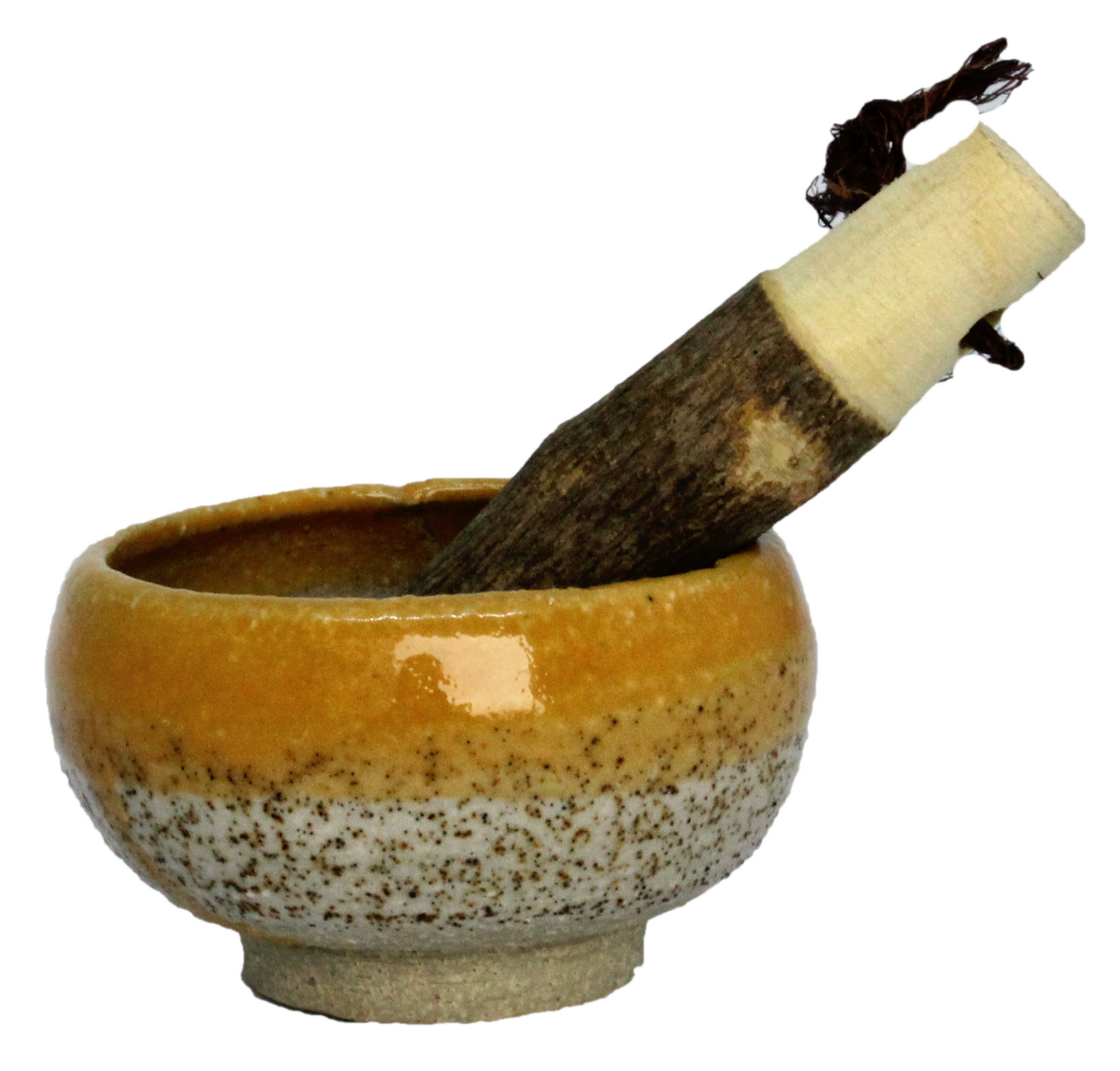 Japanese pottery pestle and mortar handmade