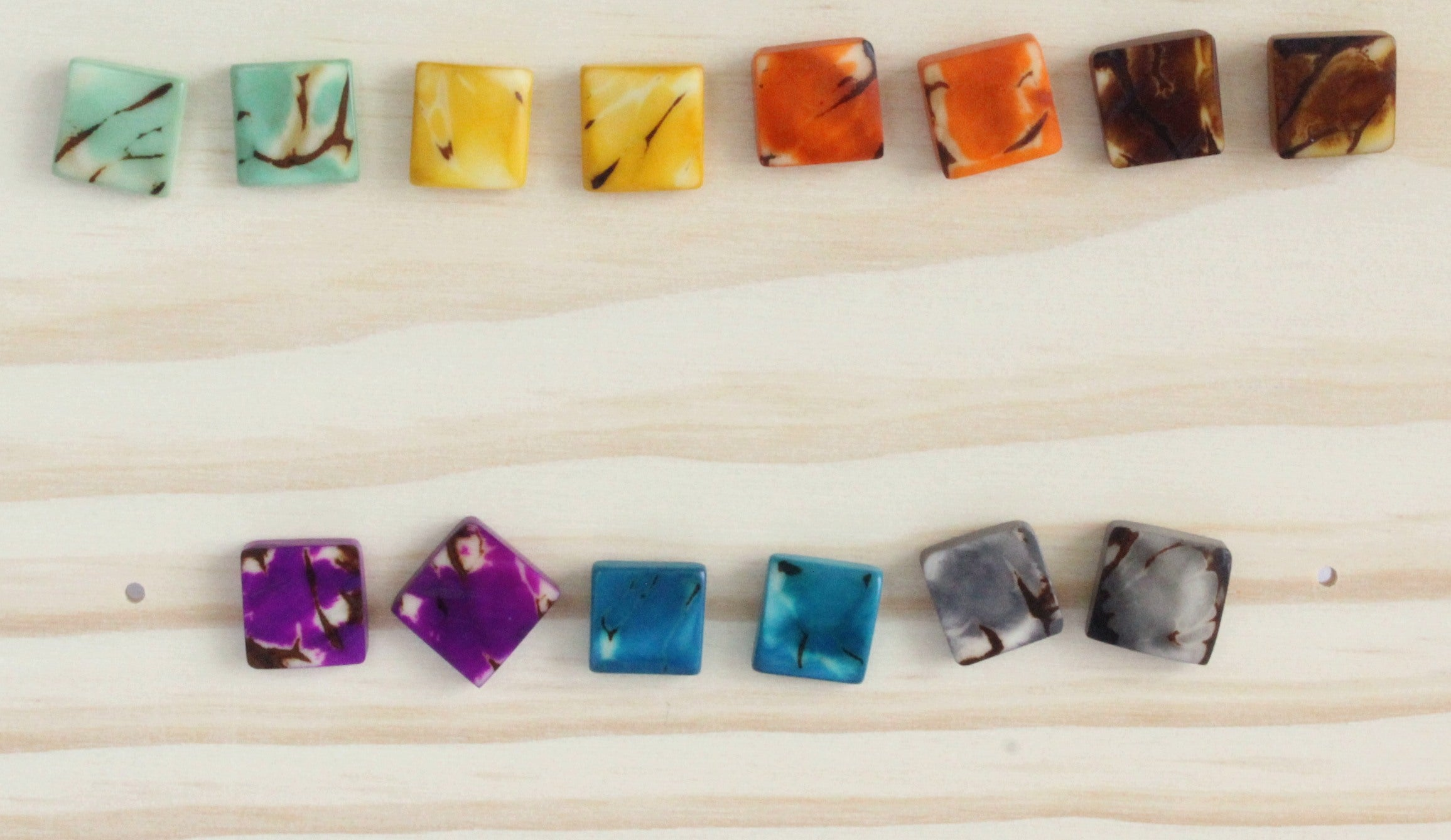 Handmade earring, sustainable, tagua, stud, push back, collection